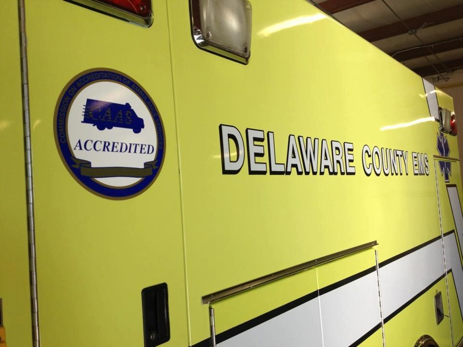 Photo courtesy of Delaware County EMS