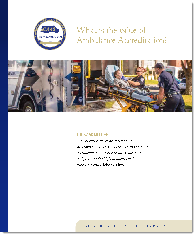 Value of Accreditation - CAAS - Cover